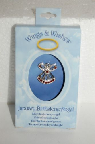 DM Merchandising Wings Wishes WGW01 January Birhstone Angel
