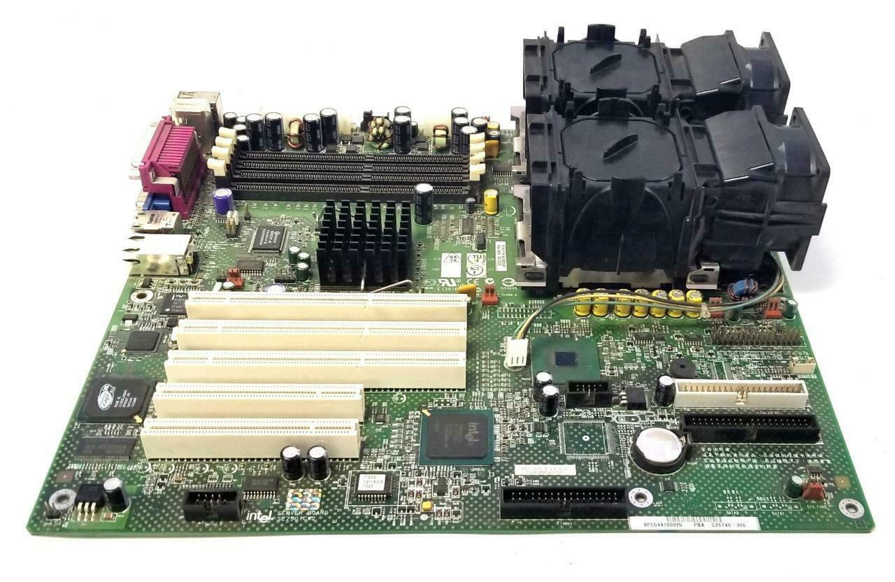 Primary image for Intel SE7501CW2 Server Board W/ Dual Heat Sinks and Cooling Fans
