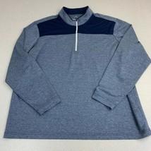 Adidas Golf Jacket Mens 2XL Blue Quarter Zip Stand Up Neck Sport Athletic Jacket - $22.95