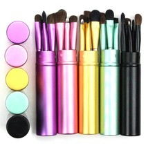 Travel Makeup Brushes Set Mini Case Portable Eyeliner Eyebrow Eyeshadow ... - €6,63 EUR