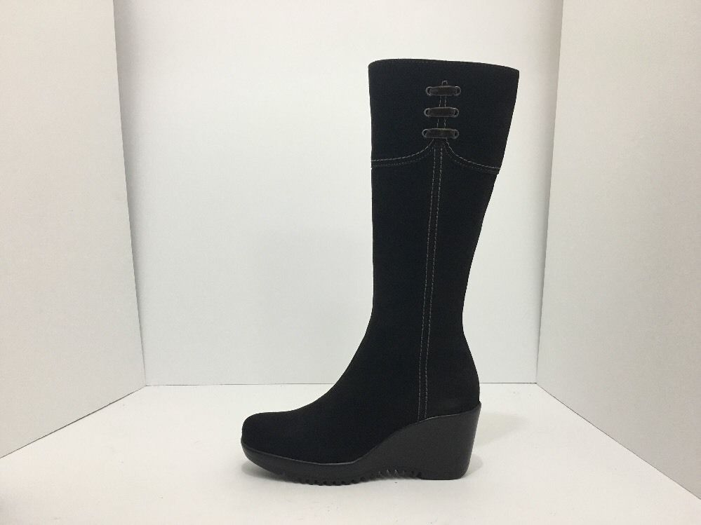 La Canadienne Galaxy Brown Suede Women's Knee High Platform Wedge Heel Boots 5 M image 3