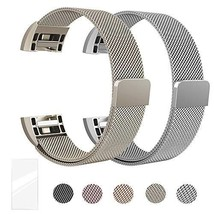 Super Vaule Metal Bands Compatible for Fitbit (Small|Silver + Champagne ... - $33.95