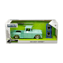 1955 Chevrolet Stepside Pickup Truck Light Turquoise with Extra Wheels J... - $37.40