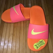 New! Nike Girls Kawa Hot Punch & Orange Slide Sandals (GS/PS)  Size 13C - $19.79