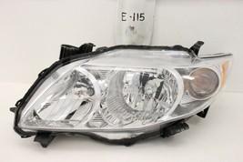 Oem Head Light Headlight Lamp Headlamp Toyota Corolla 09 10 Lh Chrome Nick Trim - $74.25