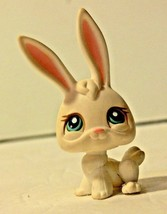 Littlest Pet Shop #3 White BUNNY Rabbit Long Pink ears with Blue Eyes LPS - $5.99