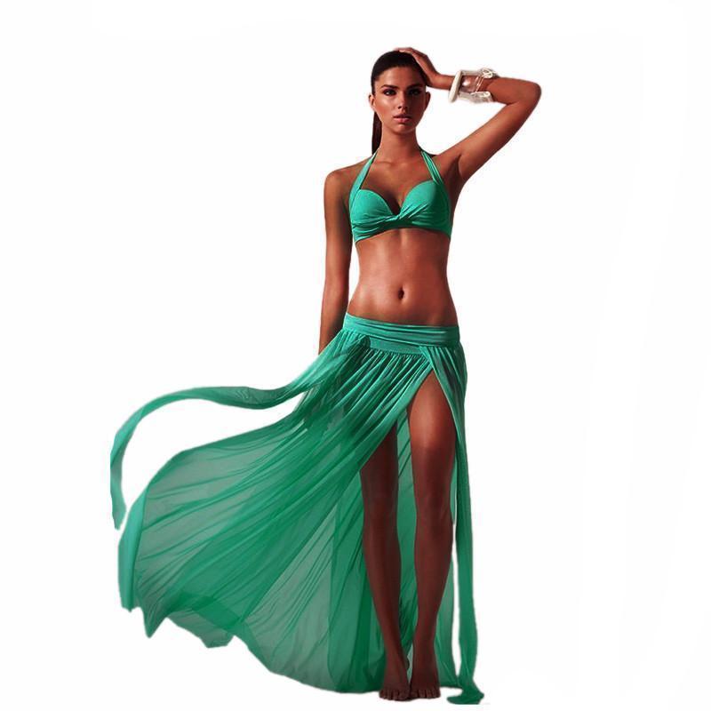 less cover up skirt sky blue one size summer tunic high slit women cover up skirt 1371405156383