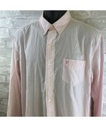 AMERICAN EAGLE L/S PINK STRIPED BUTTON FRONT SHIRT  L     - $20.59