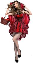 Sexy Velvety Little Red Riding Hood Fairy Tale Deluxe Costume image 1