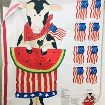 Daisy Kingdom Red White & Moo Door Panel 4th of July - $18.32