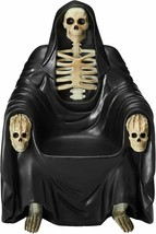 GRIM REAPER SCULPTURE THRONE CHAIR 51.5 inch Seat of Death Gothic Scary ... - $2,099.99
