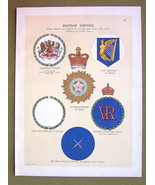 FLAGS British Empire Badges Military India Governor  - 1899 Color Litho ... - $16.20