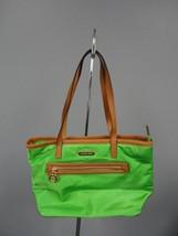 MICHAEL MICHAEL KORS Emerald Green Nylon Tote Bag Handbag Purse Size M B... - $59.39