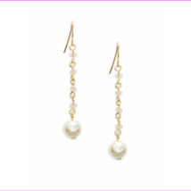 Lauren Ralph Lauren Pink Faux Pearl Linear Drop Earrings $16.99 - $7.81