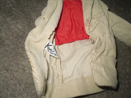 Mattel Barbie Doll Clothes - Ken Pak Corduroy Jacket - 1962 BW Label image 2