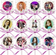 Blackpink Kpop Group Lollipops Party Favors Supplies with Pink Ribbon Bo... - $15.79