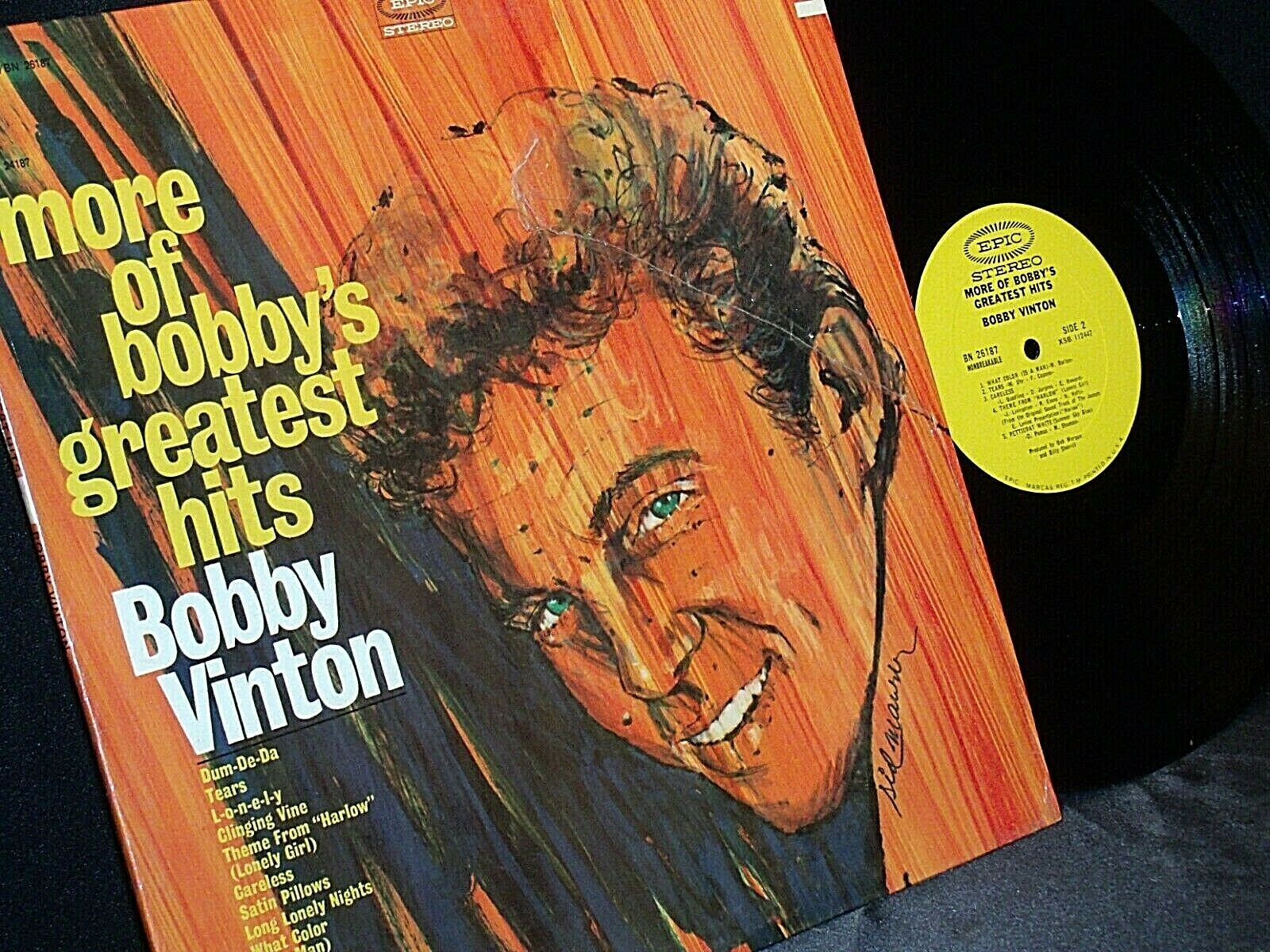 Bobby Vinton  More of Bobby's Greatest Hits Bobby Vinton AA20-RC2106 Vintage