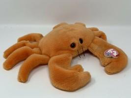 "Ty Beanie Buddies Large Plush Original Digger Orange Crab 1999 14"" across  - $11.88"
