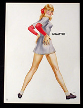VARGAS PIN-UP GIRL POSTER IN BASEBALL UNIFORM FIRE HOT!  FROM 1944 PAINT... - $14.49
