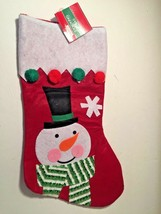 "NWT Xmas House Stocking 16 x 8.5"" Snowman CUTE - $5.50"