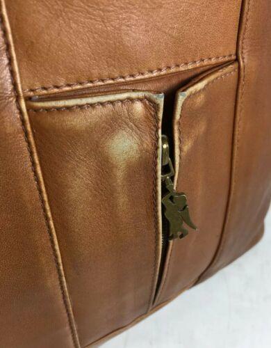 American Angel Brown Leather Multi Pocket Shoulder Bag – Distressed image 11
