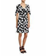 MICHAEL Michael Kors WOMEN'S Tie-Sleeve Floral-Print Dress BLACK/WHITE - $24.32