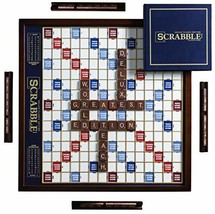 Winning Solutions  Scrabble Deluxe Wooden Edition with Rotating Game Board - $141.22