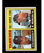 1967 TOPPS #93 STAN BAHNSEN/BOBBY MURCER VG+ RC YANKEES ROOKIES  *X3364 - $3.96