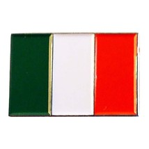 Italy, Italian Flag  lapel pin  handmade in uk from uk made parts, boxed tie,lap