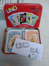 RARE Uno Vintage Peanuts Special Edition Card Game in Tin Complete - $39.60