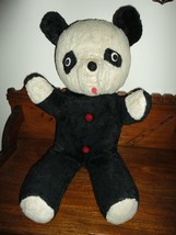 Old Antique Silk Plush Large Panda Bear Ganz Bros Toronto 27 inch - $219.93