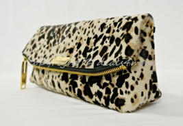 Burberry The Petal Animal Print Clutch in Stone. Dark Brown & Off White ... - $799.00
