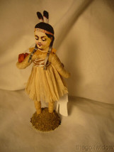 Spun Cotton Thanksgiving Native Girl Vintage by Crystal Tan Outfit image 2