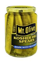 Mt. Olive Kosher Dill Spears Made with Sea Salt 24 Oz (Pack of 2) - $24.49