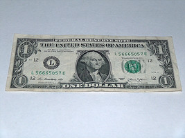 2013 $1 One Dollar Bill US Note Haunted Devil Beast 56665057 Fancy Seria... - $12.95