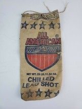 All American Chilled Lead Shot No.8 - Empty Canvas Bag Eagle & Flag - $9.49