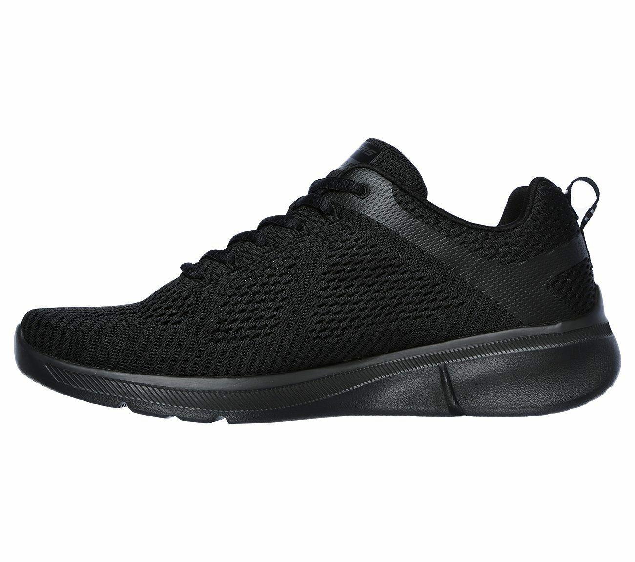 Skechers Black shoe Men Memory Foam Soft Mesh Train Sport Comfort Athletic 52927
