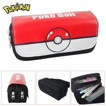 Pokemon Game Theme Pencil Case Pen Bag Poke Ball - $19.99