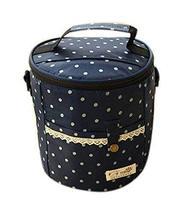 PANDA SUPERSTORE The Large Circular Blue Portable Aluminum Foil Oxford Cloth Lun