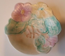 Vintage Avon Ware Dish Leaf Floral Pansy Hand Painted Plate England - $9.98