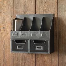 Metal 4 Pocket Wall Hang Organizer with 2 Pull Out Drawers - $95.00