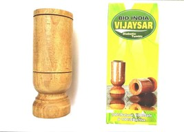vijaysar diabetic Herbal Tumbler heavy pure Wood glass bija indian kino ... - $16.69