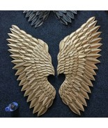 Golden Angel Wings Divine Mural Wall Art Decor Club Bar Lounge Pub Wall ... - $392.21