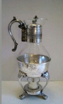 Vintage Silver Plate & Glass Coffee Pot Carafe ... - $29.69