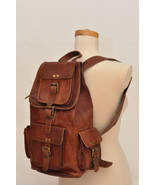 """16"""" Brown Handmade Rustic Soft Leather Casual Ladies Travel Backpack Ruc... - $56.45"""