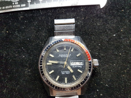 1979 CARAVELLE SET O MATIC  DIVER BLACK RED BEZEL 666FT AUTO DAY DATE WA... - $295.00