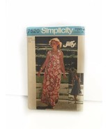Simplicity 7520 Misses Jiffy Tie On Dress In 2 Lenghts Bag Sewing Pattern - $17.81