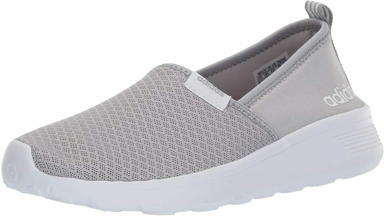 Adidas NEO Women's Grey Onyx White Lite Racer Slip On W Casual Sneaker 9 US NWT