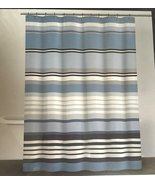 DKNY Urban Lines White Denim Blue/Black/Gray/White Shower Curtain - $38.00