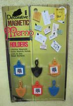 1969 MIP Set of 6 TINY Trivet Decorative Magnets Magnetic Memo Holder  T9 - $14.36